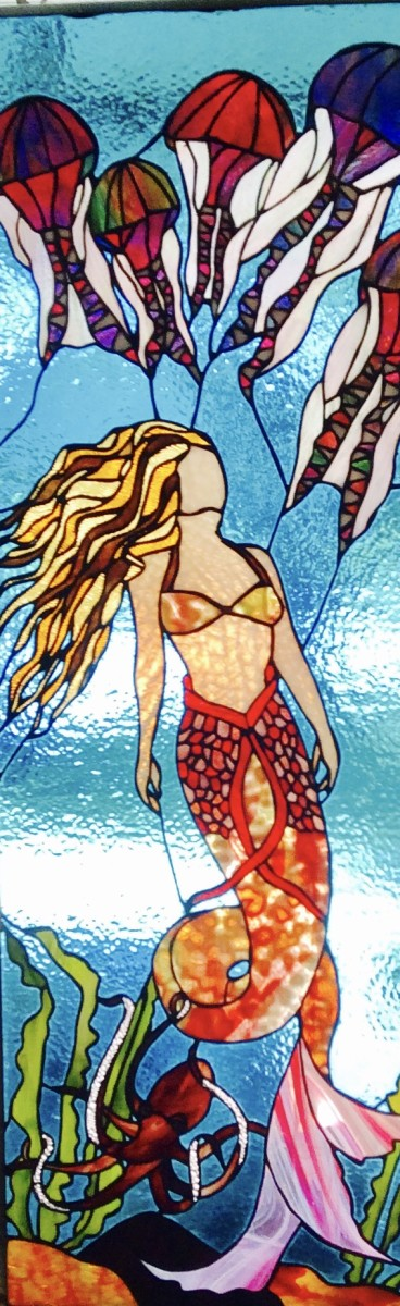 Mermaid with Jellyfish
