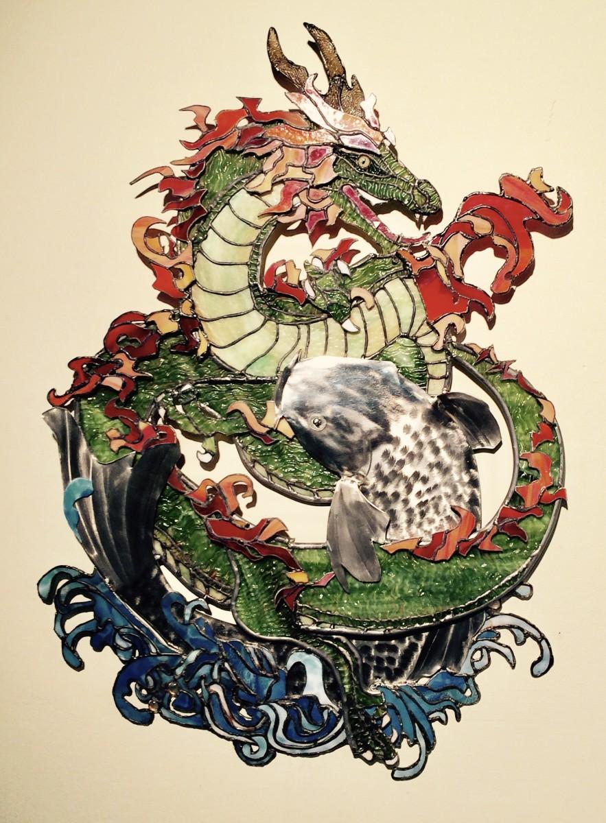 Dragon & Koi by Pat Conway