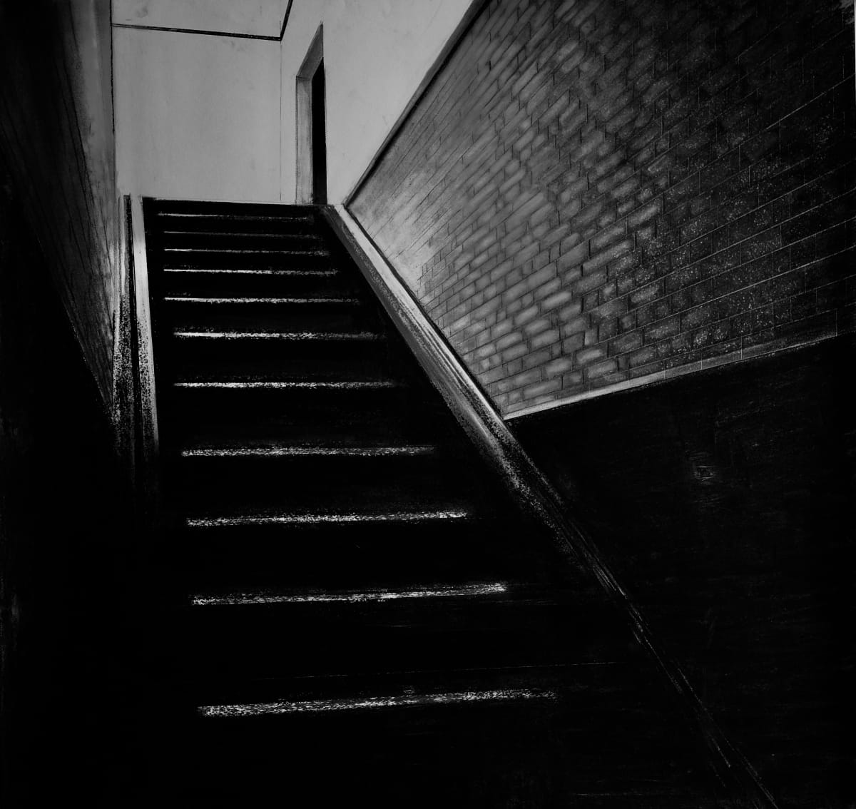 Charcoal Stairs #2 by Judith Ansems Art