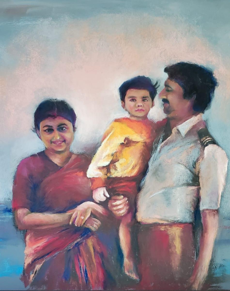 Family Portrait - Commission by Monika Gupta