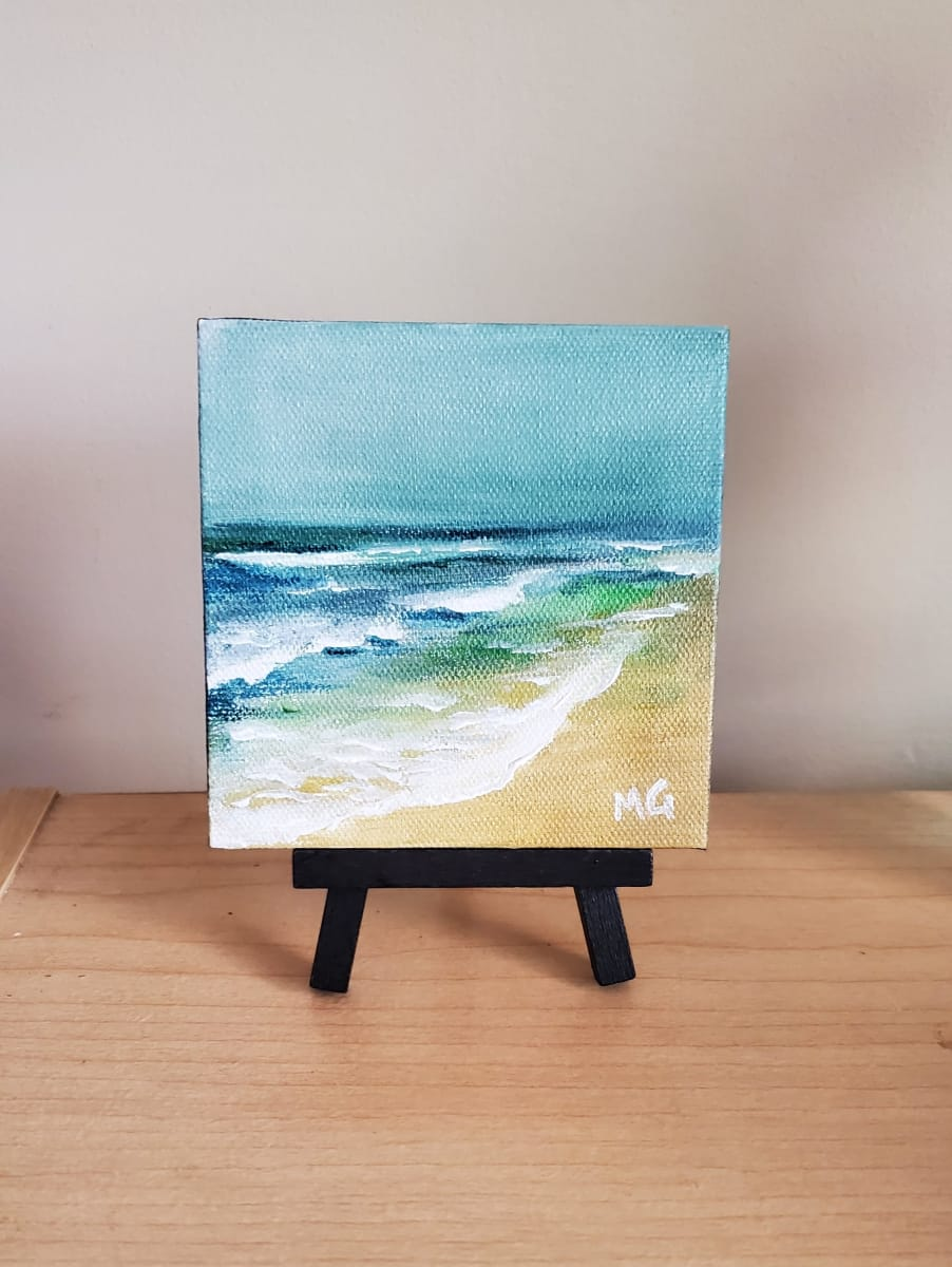 Mini Canvas - On the Beach by Monika Gupta