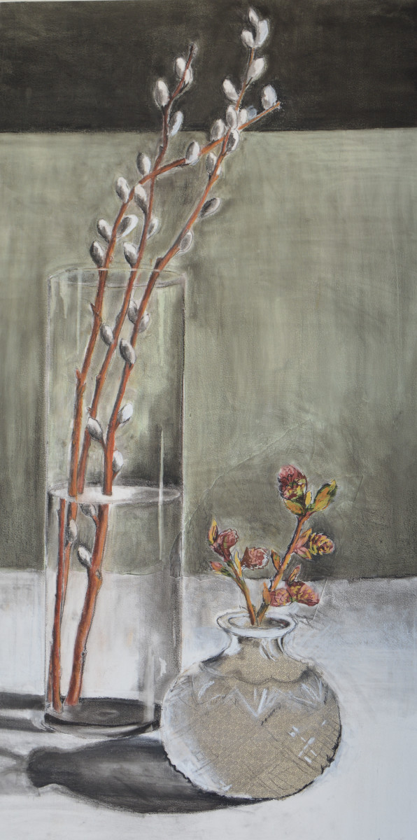 Cottonwood Buds and Pussy Willows by Deborah Mitchell
