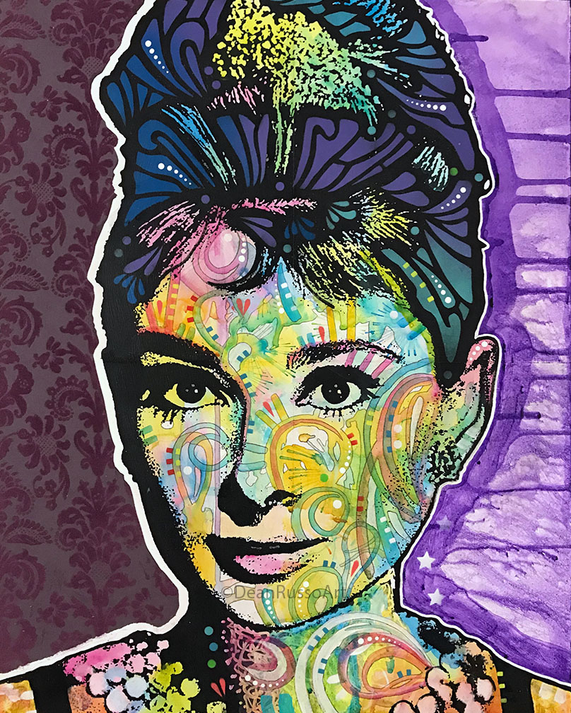 Audrey Hepburn Purple Flower