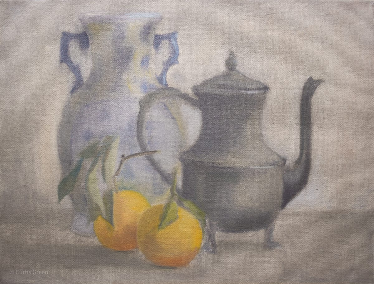 Still Life Afternoon with Oranges by Curtis Green