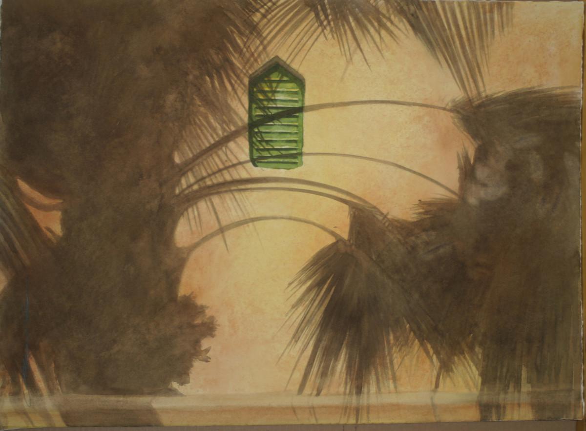 Palm Shade Green Shutter