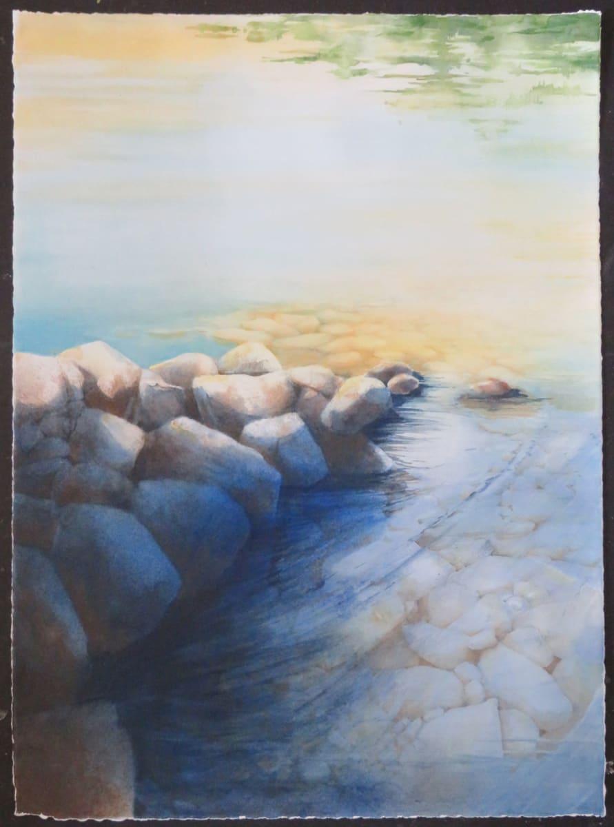 Stone Jetty by Karen Phillips~Curran