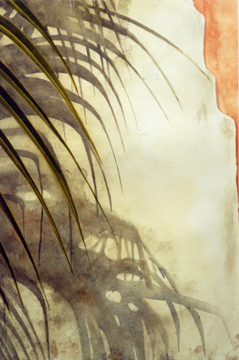 Chimney and Palm by Karen Phillips~Curran