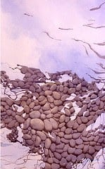 many stones   print by Karen Phillips~Curran