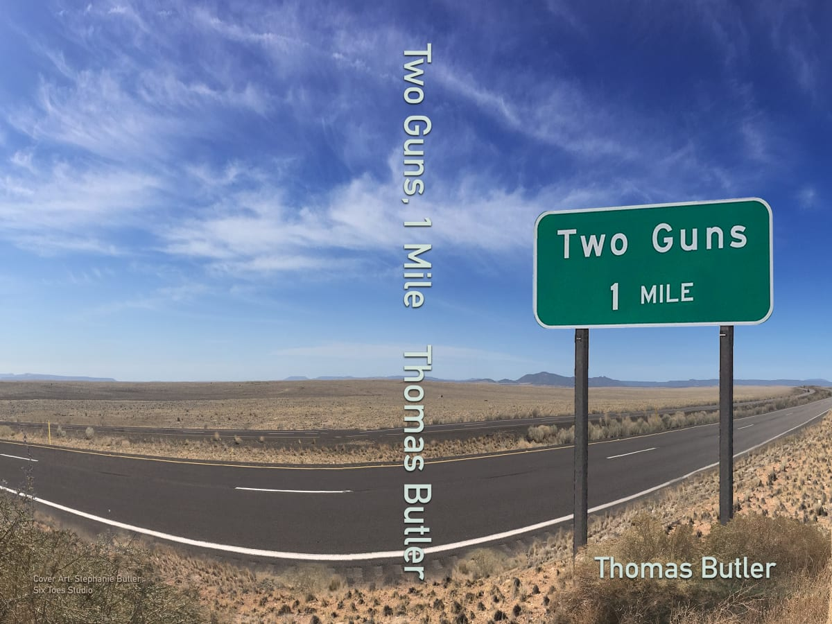 Two Guns, 1 Mile Cover Art by Stephanie Perample Butler