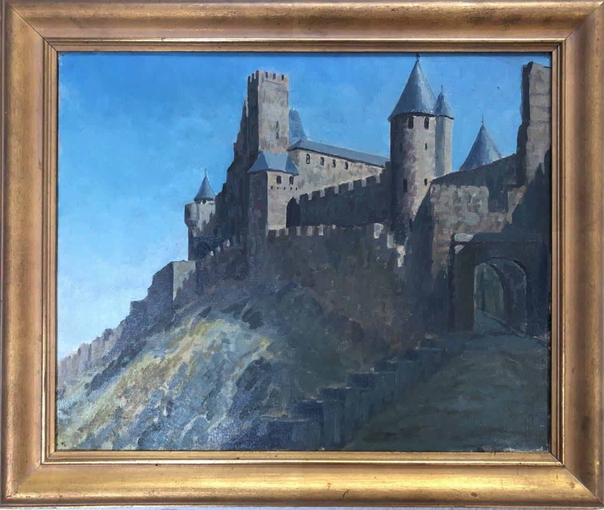 Carcassonne  1927 by EUGENE KINGMAN