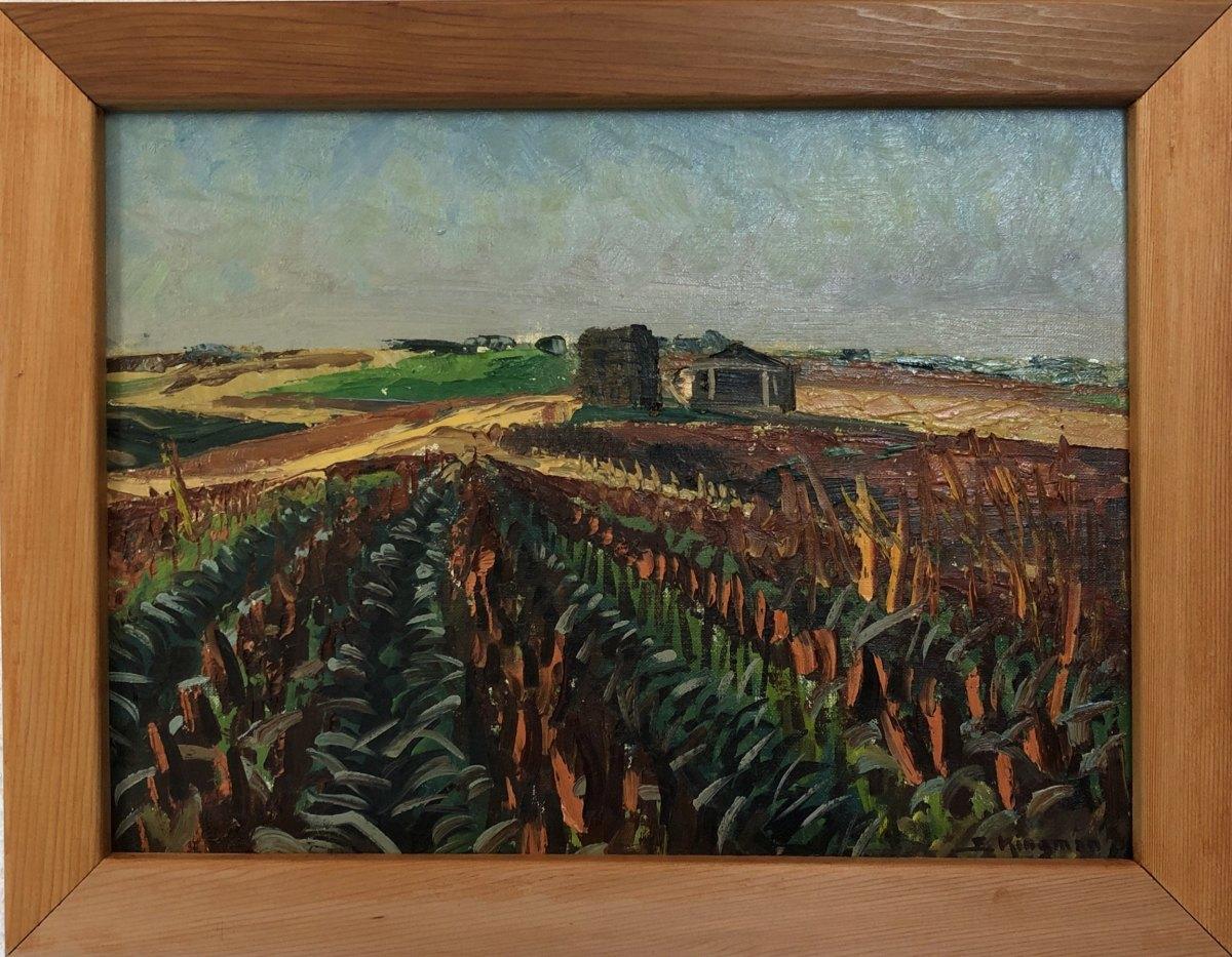 Late Harvest (Nebraska)  1957 by Eugene Kingman