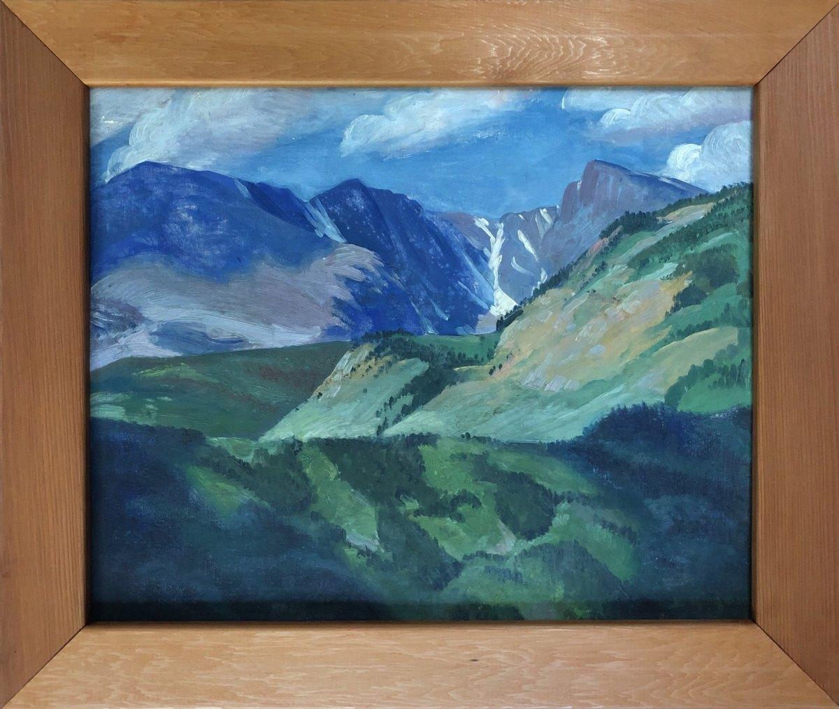 Mountain Sides - Taylor Glacier            1942 by Eugene Kingman
