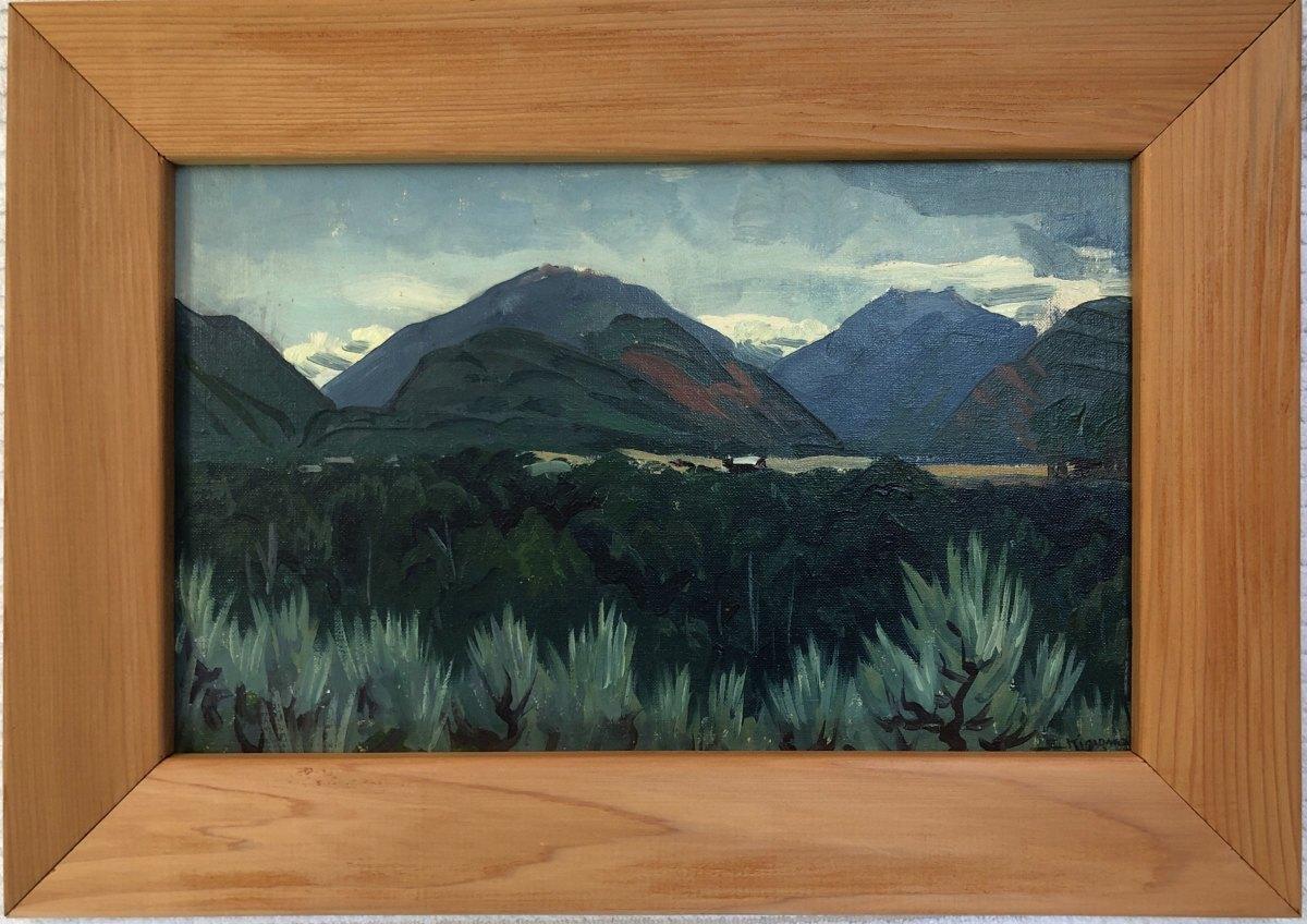 Mountains Near Aspen          c. 1959 by Eugene Kingman