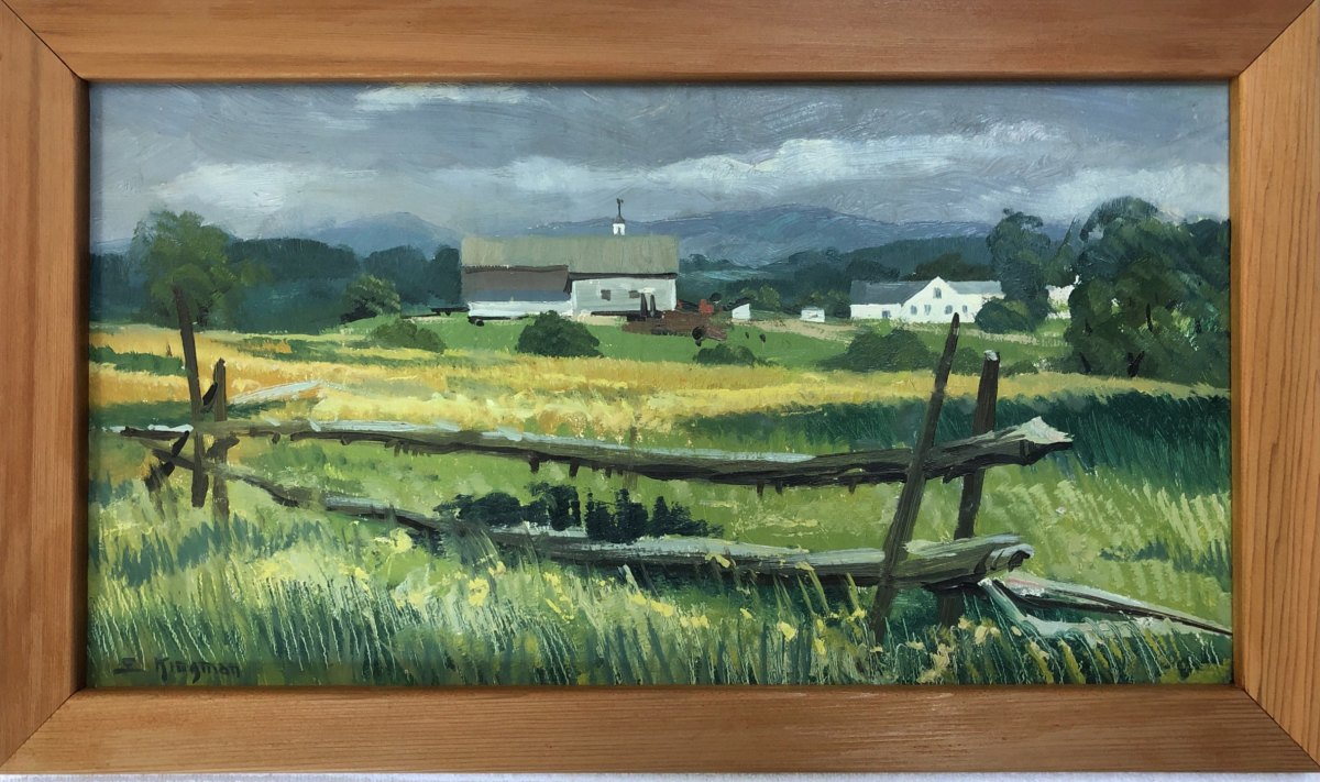 New Hampshire Countryside   1957 by Eugene Kingman