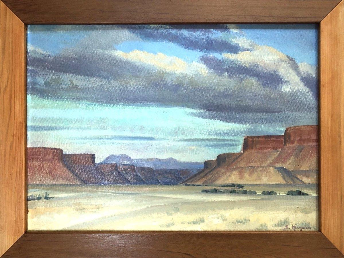 Navajo Canyon                1937 by EUGENE KINGMAN