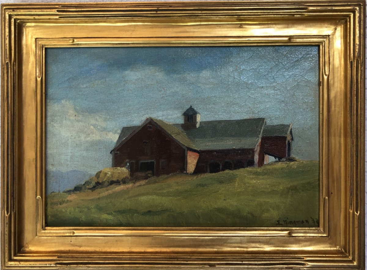Sugar Hill Barn   1932 by EUGENE KINGMAN
