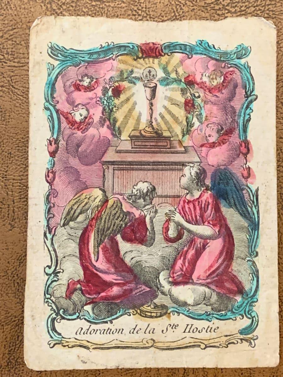 Adoration de la Ste. Hostie