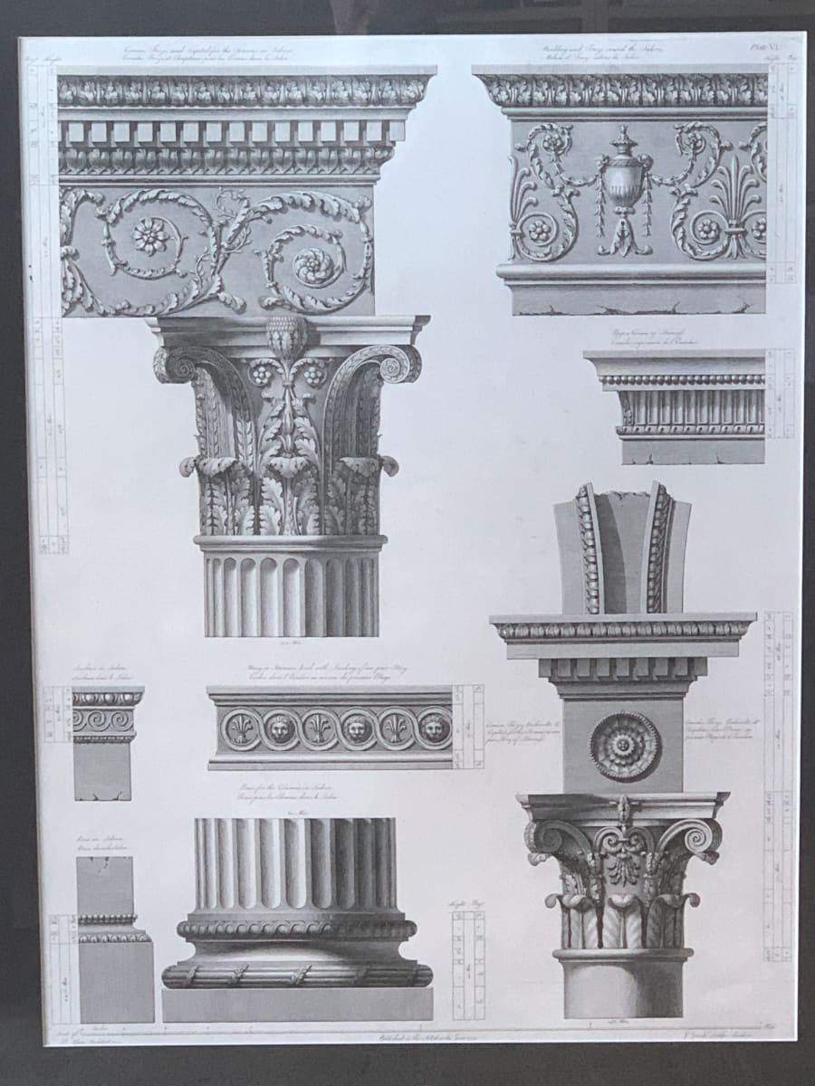 Cornice, Frize, and Capital for the Screens in Saloon, Plate VI by Robert Adam