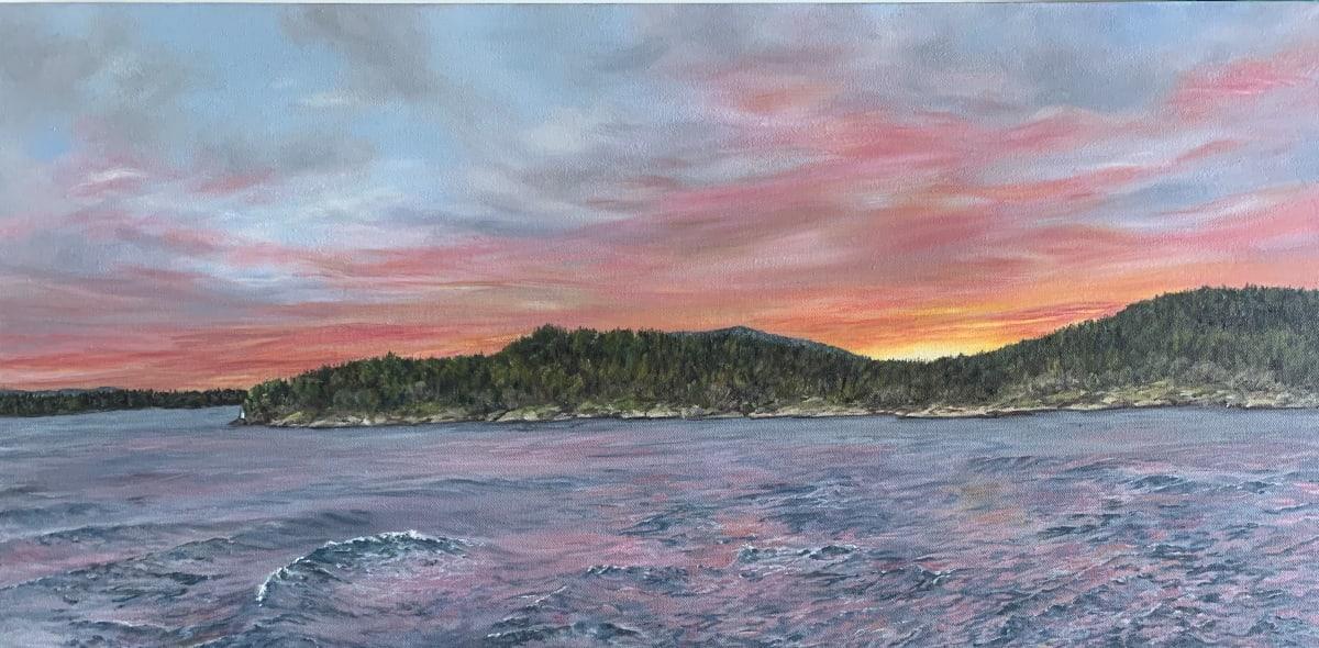 Blazing Sunset on the Pass by Jennifer Peers