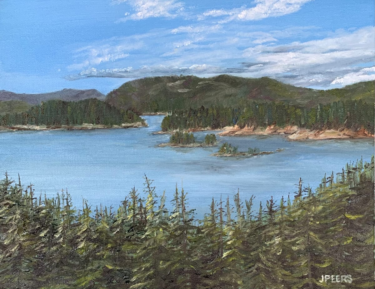 View  over the Tree Tops by Jennifer Peers