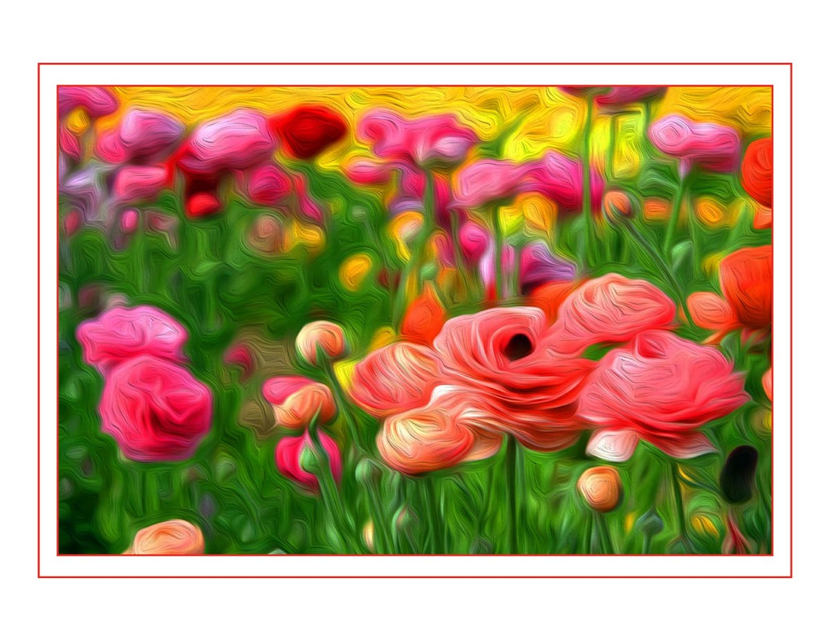 Surreal Pink Flowers by Bob Kahn