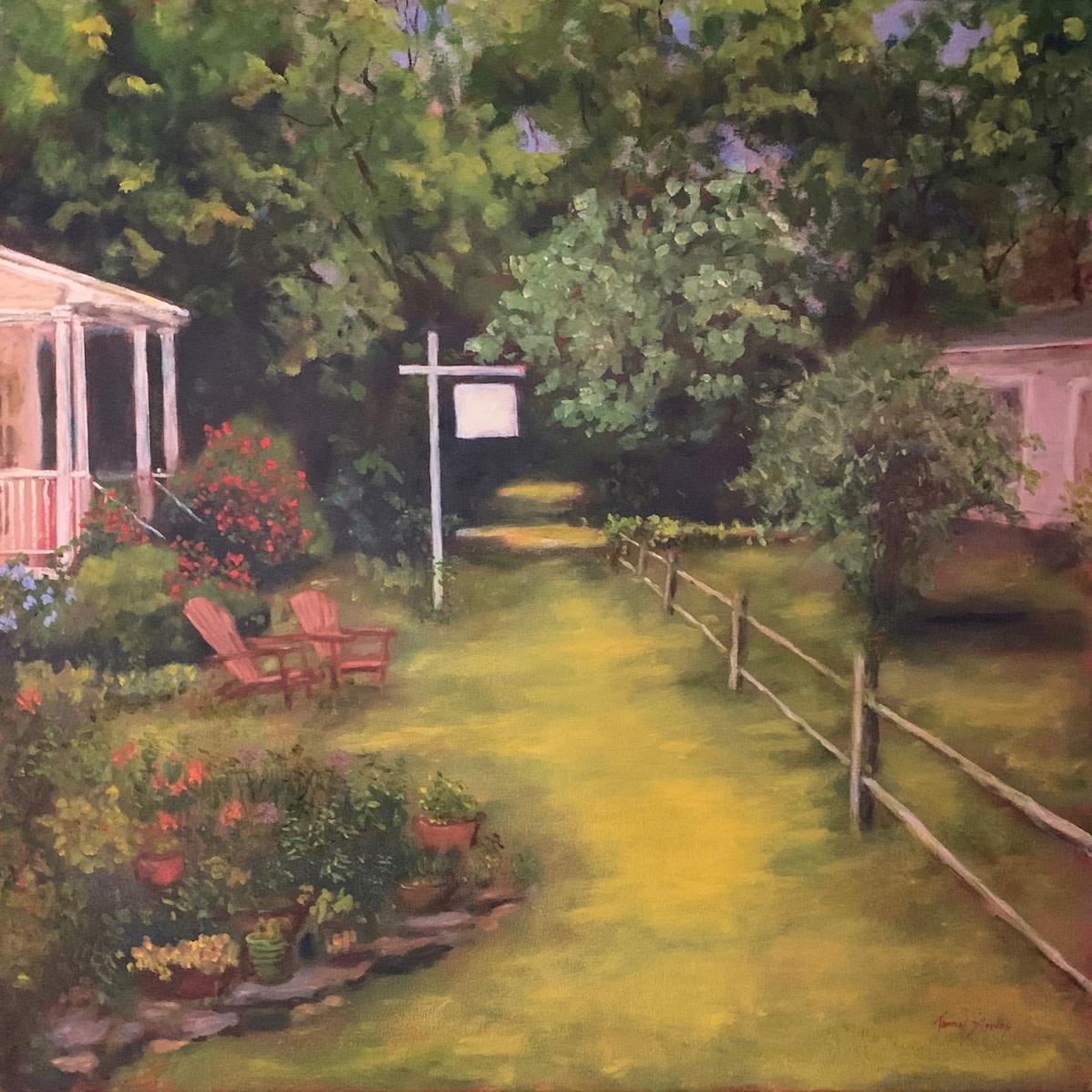 Cedar Walk Garden (Cedar Walk Series) 36.075319N  79.100936W by Thomas Stevens