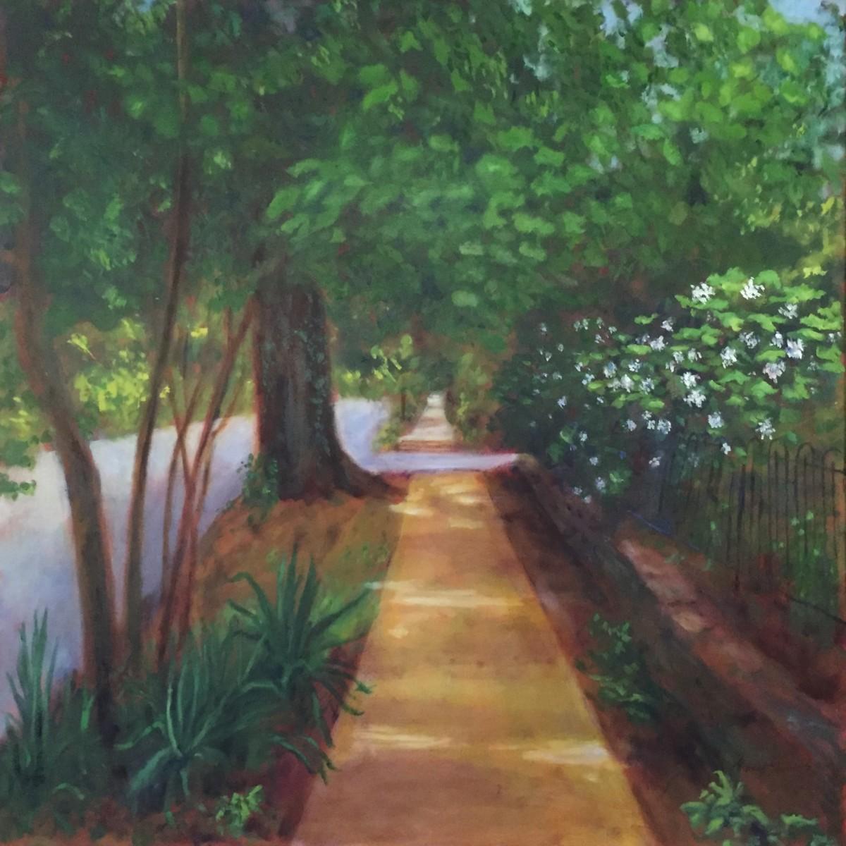 King St Oak Hydrangeas  36.075408N 79.102211W by Thomas Stevens
