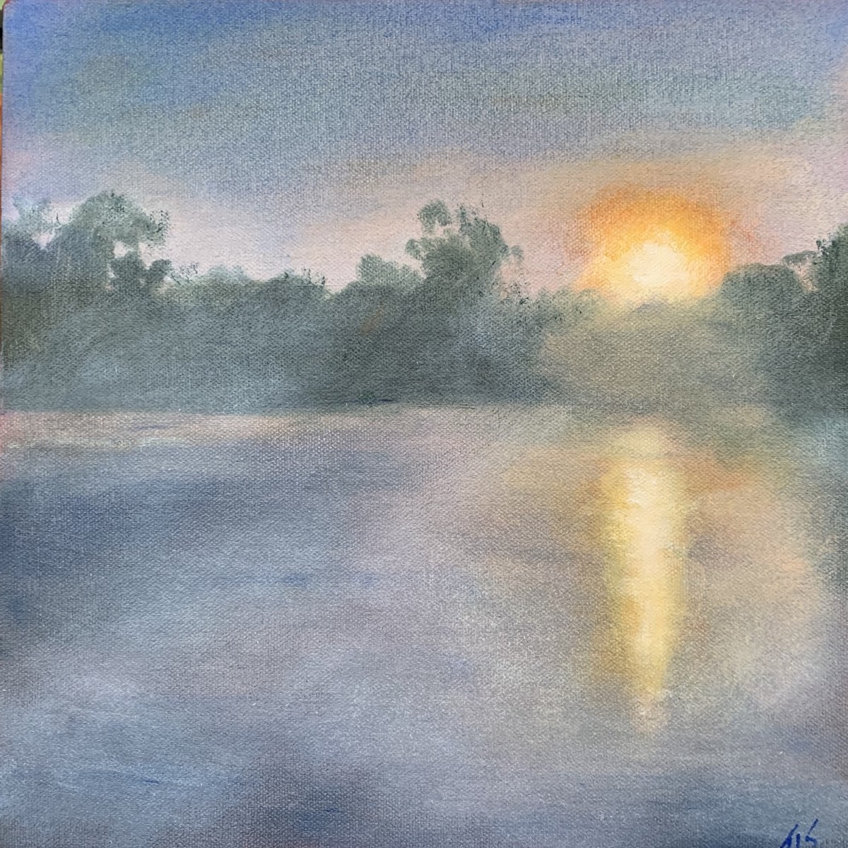 Lake Orange Sunrise~Prayer (36.15434N 79.1493W) by Thomas Stevens