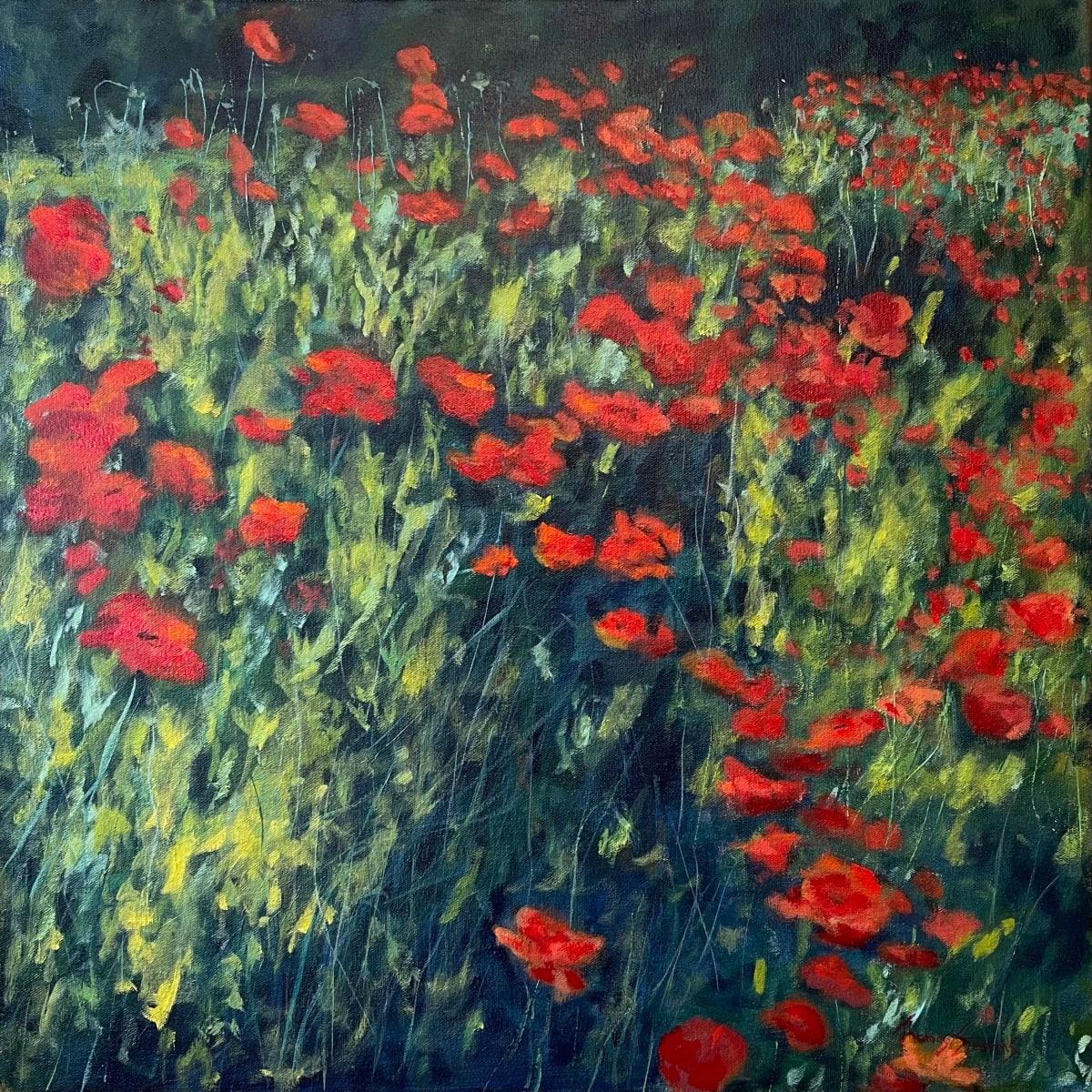 Poppies I  36.07546N 79.10113W by Thomas Stevens