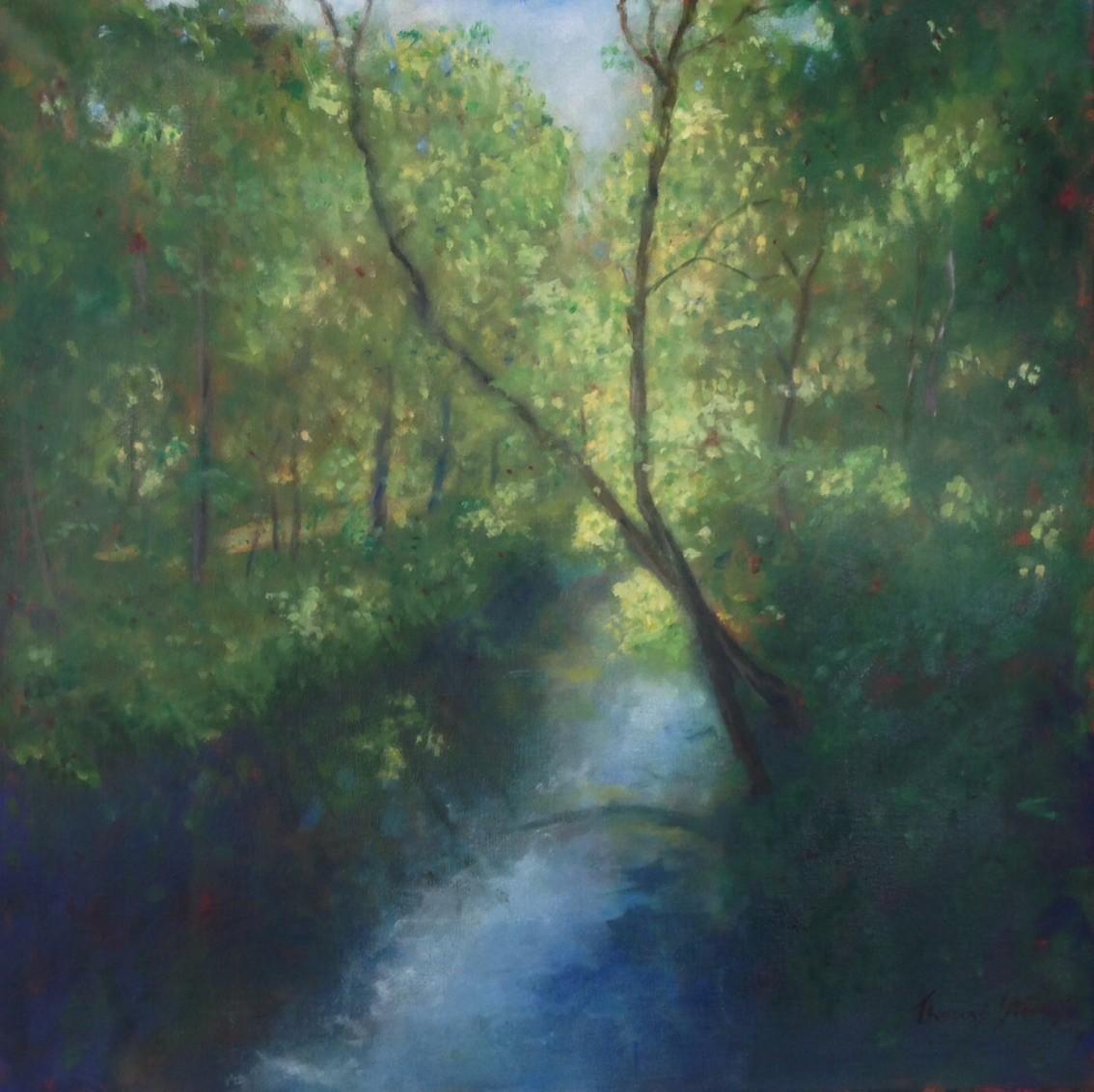 Riverwalk Bridge View East    36.072697N  79.10117W by Thomas Stevens