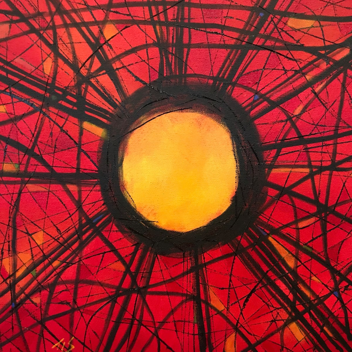 Stickwork Oculus (Scarlet)  36.072486N 79.101936W by Thomas Stevens