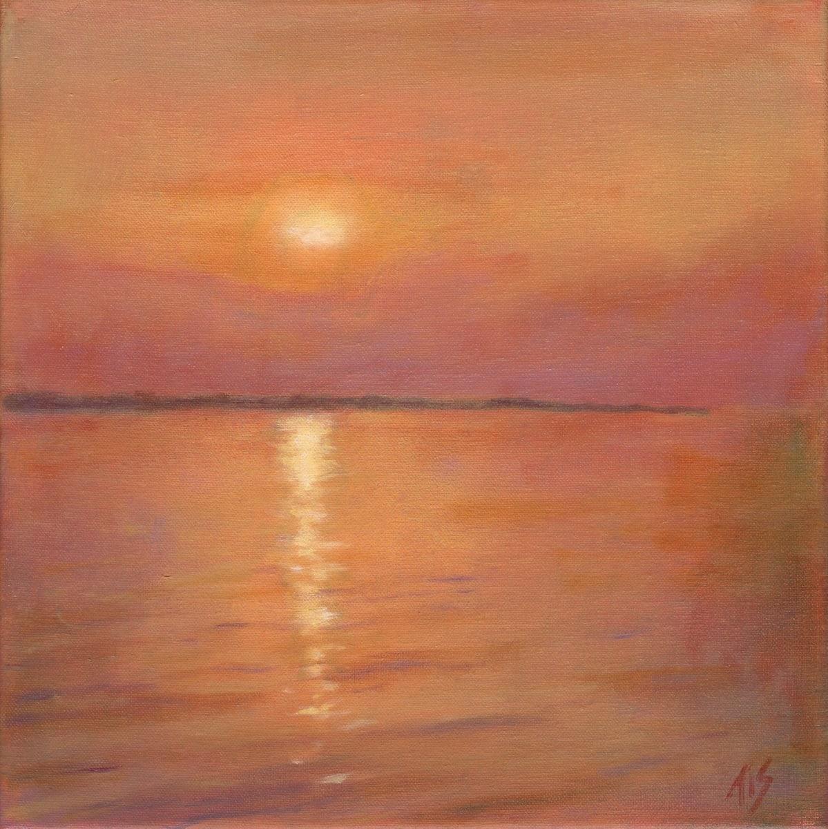 Rappahannock Sunset 37.750833N 76.6375W by Thomas Stevens
