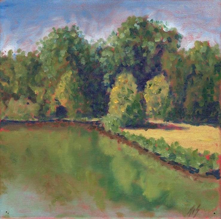 Meadowlands Pond (study) 36.06123N  79.07744W by Thomas Stevens