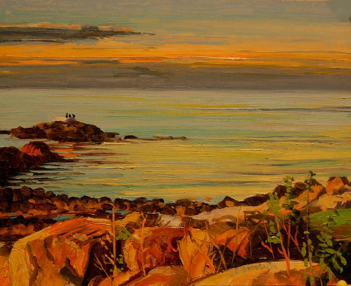Dusk View Annisquam by Elaine Lisle