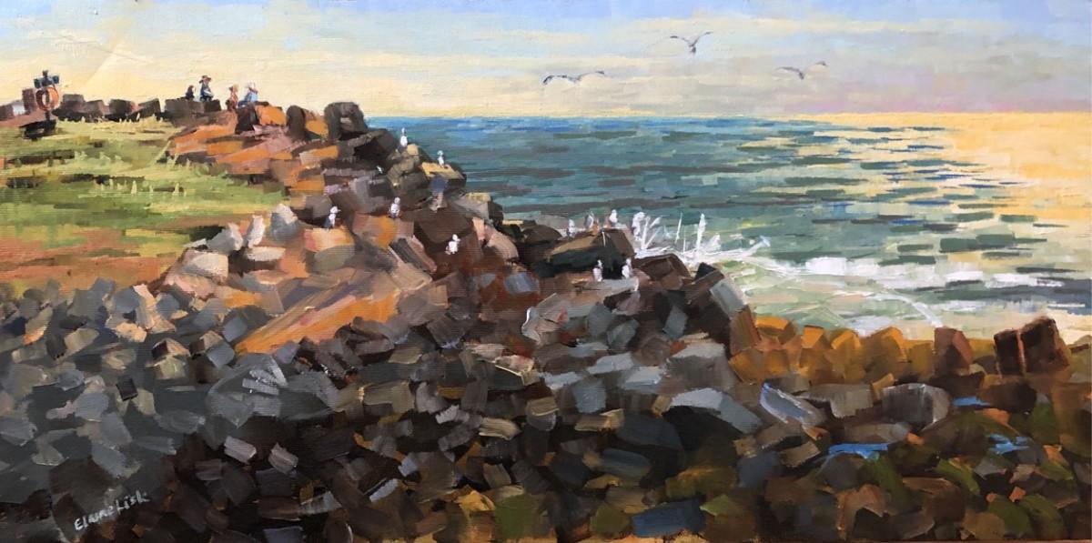 Dusk Lobster Cove by Elaine Lisle