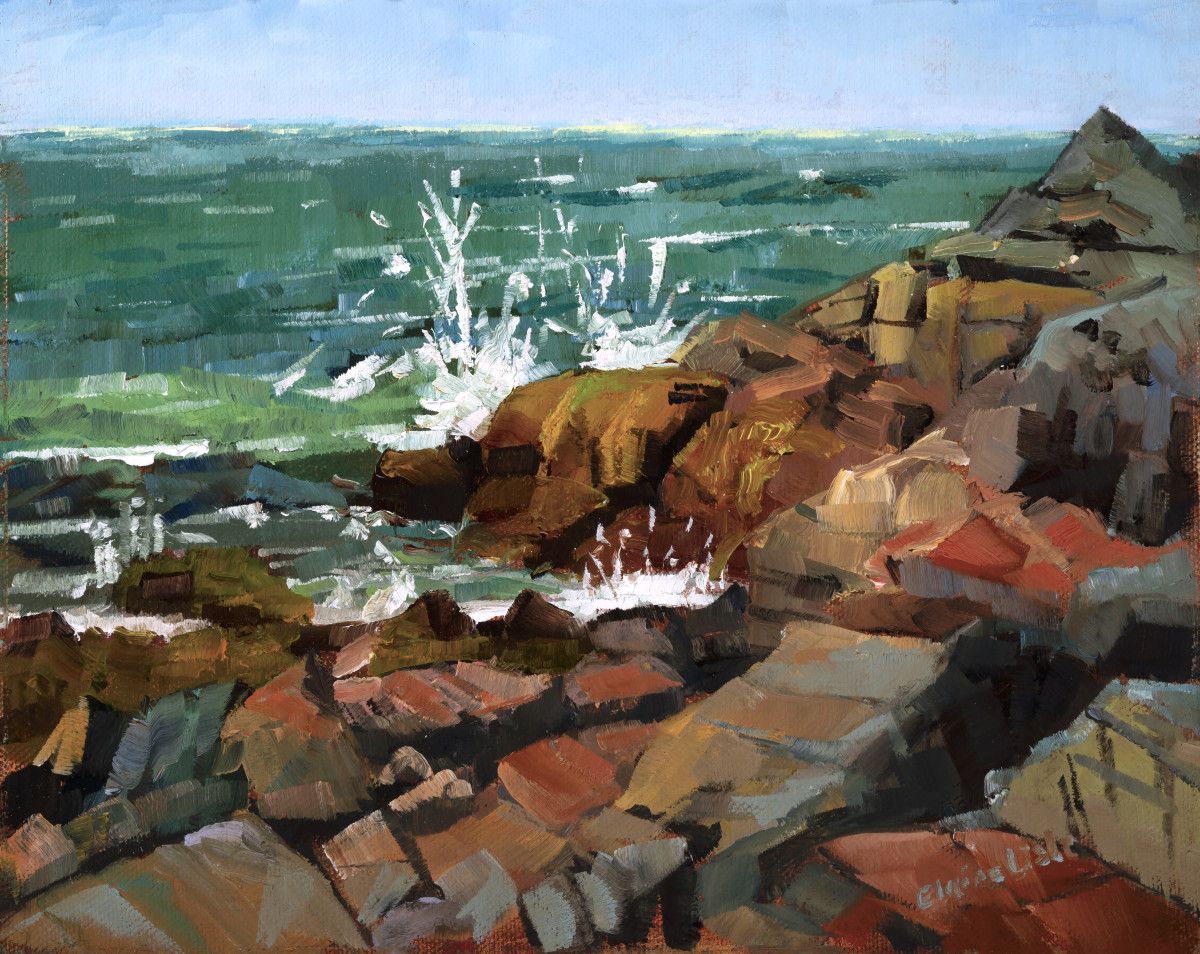 Hot Day Lobster Cove by Elaine Lisle