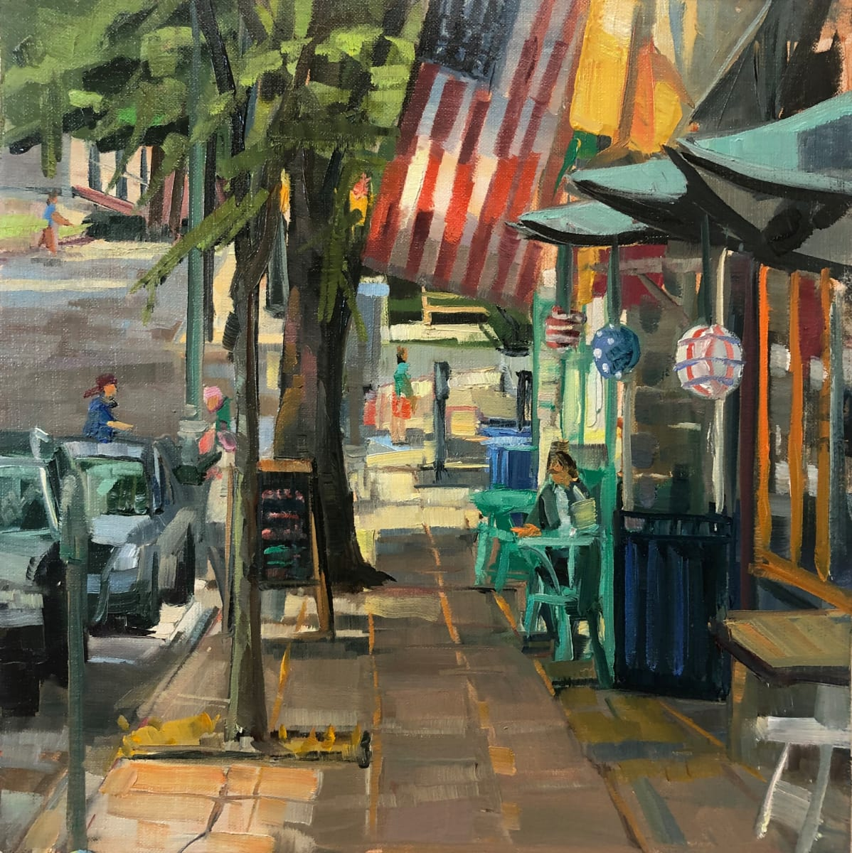 Narberth Flags by Elaine Lisle