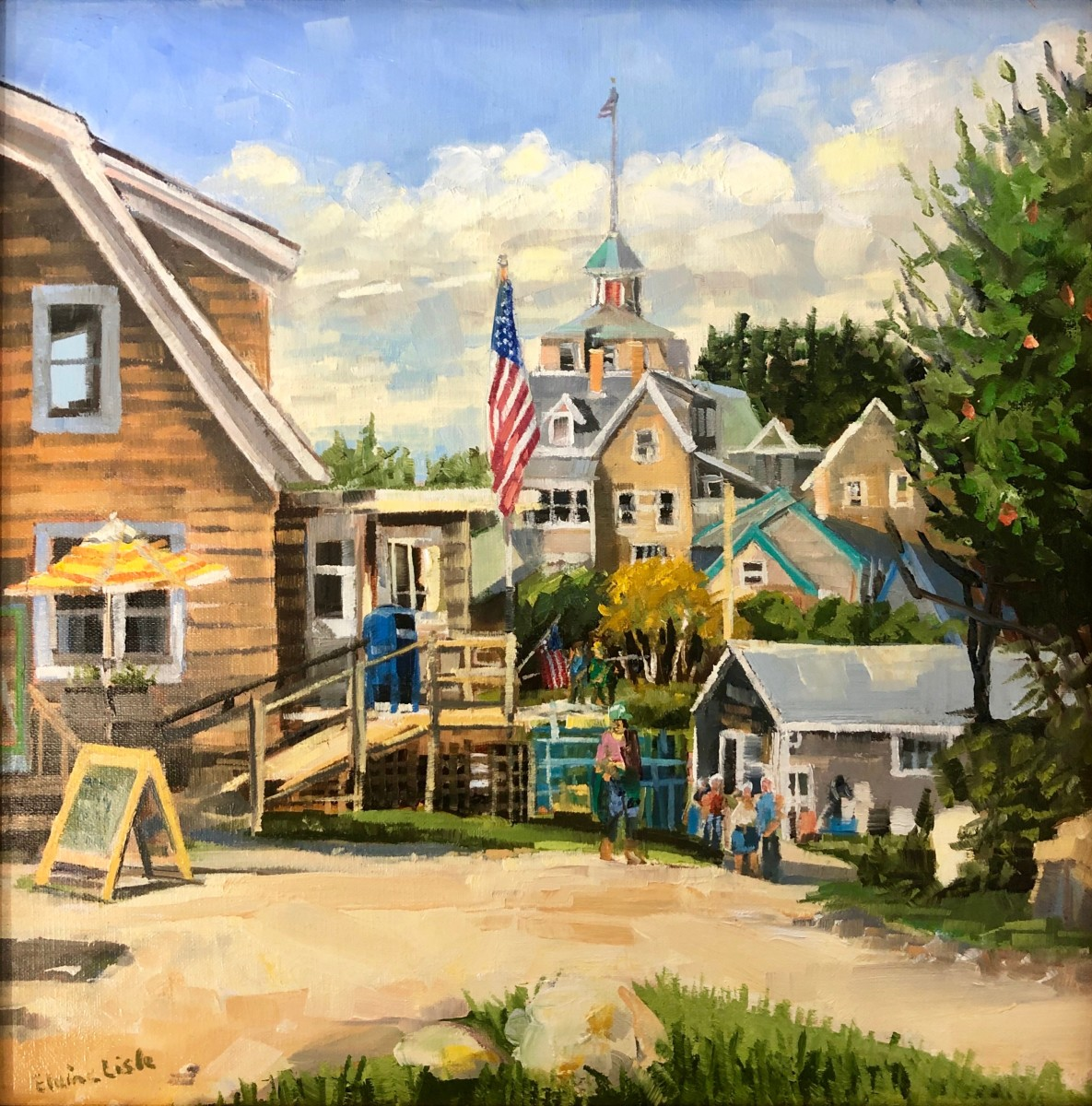 Towards the Center of Town by Elaine Lisle