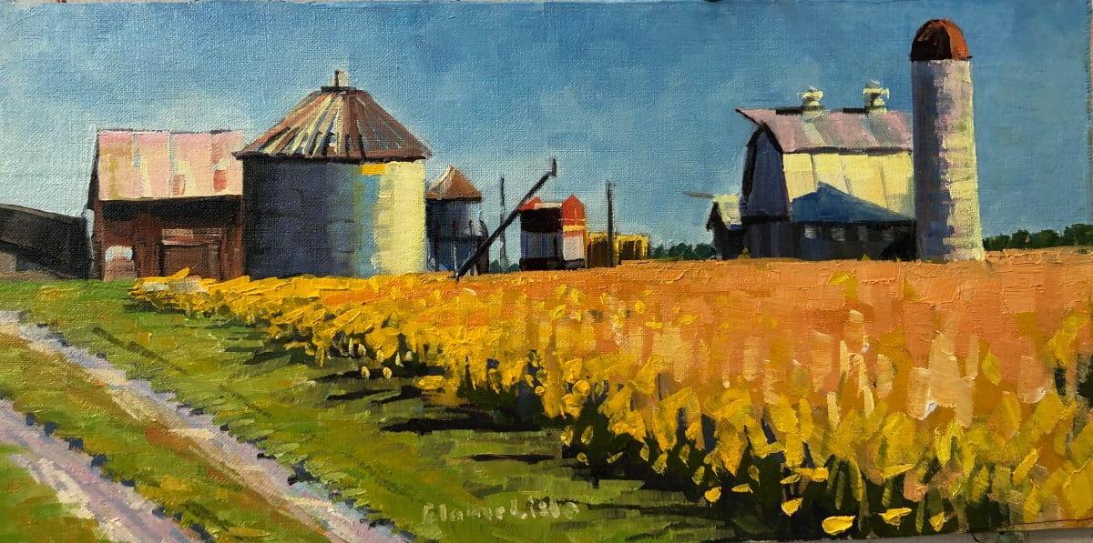 Maryland Farm at Dusk by Elaine Lisle