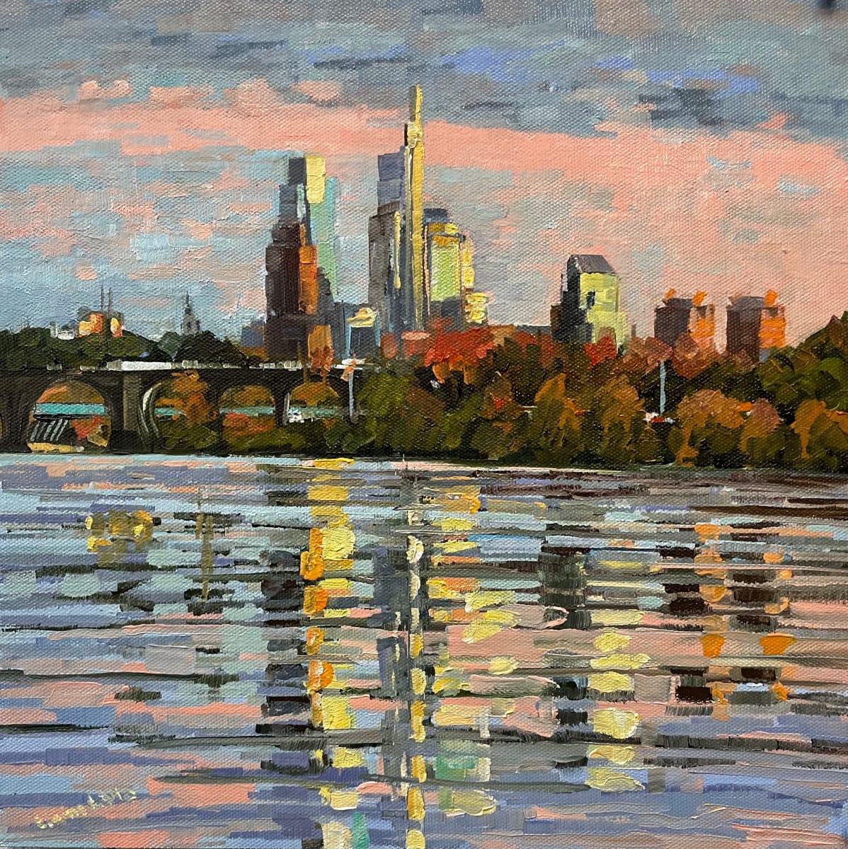 Pastel Skyline by Elaine Lisle