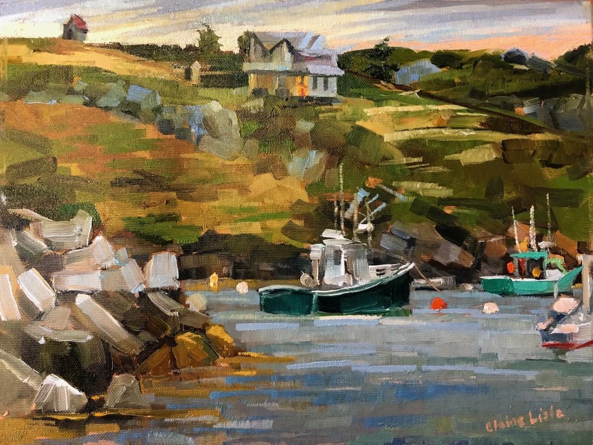 Turquoise Boat by Elaine Lisle