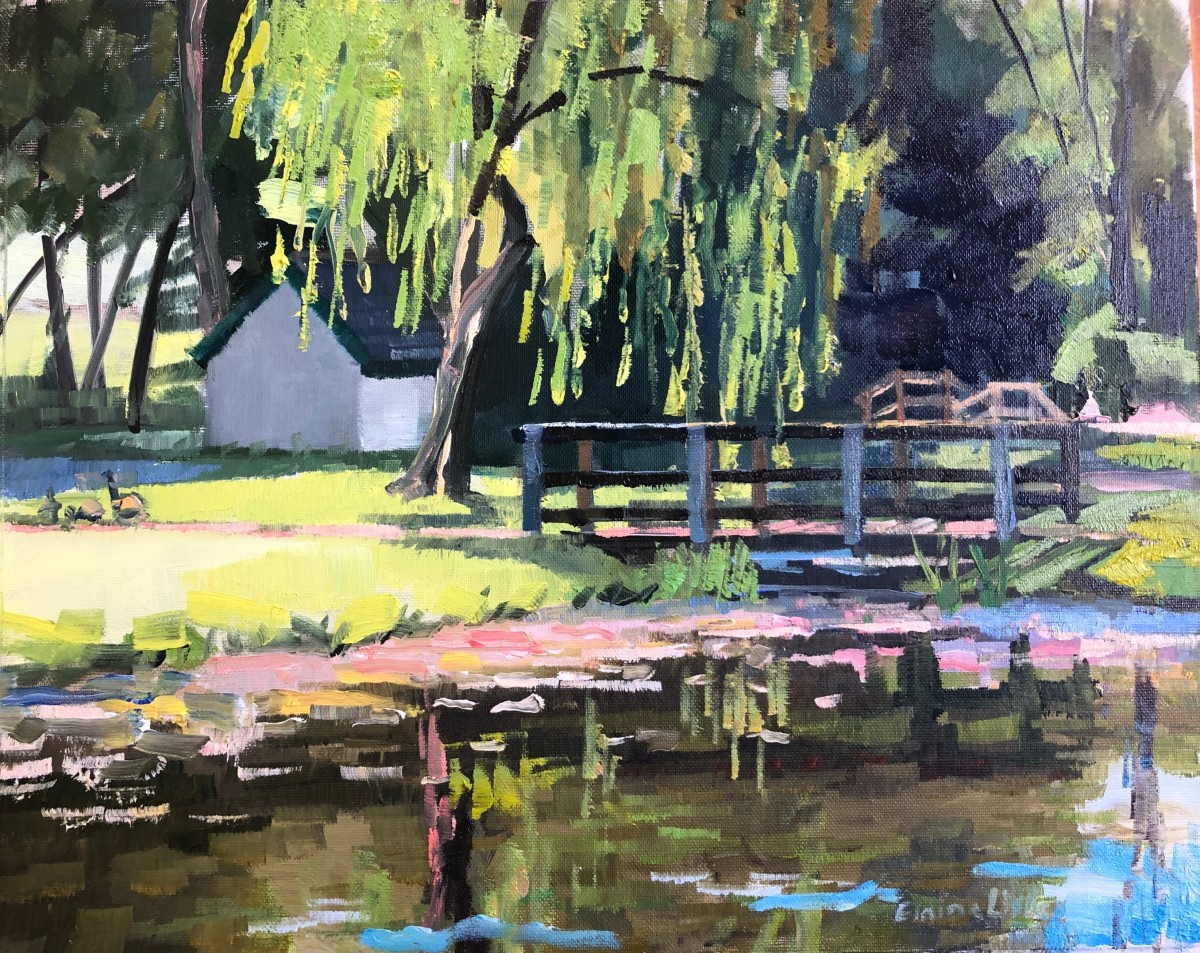 Morning at the willows by Elaine Lisle