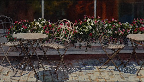 Outdoor Cafe by Marla Greenfield
