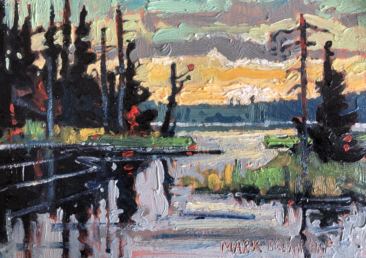 Wilderness Sketch II, Tobeatic, Nova Scotia by Mark Brennan