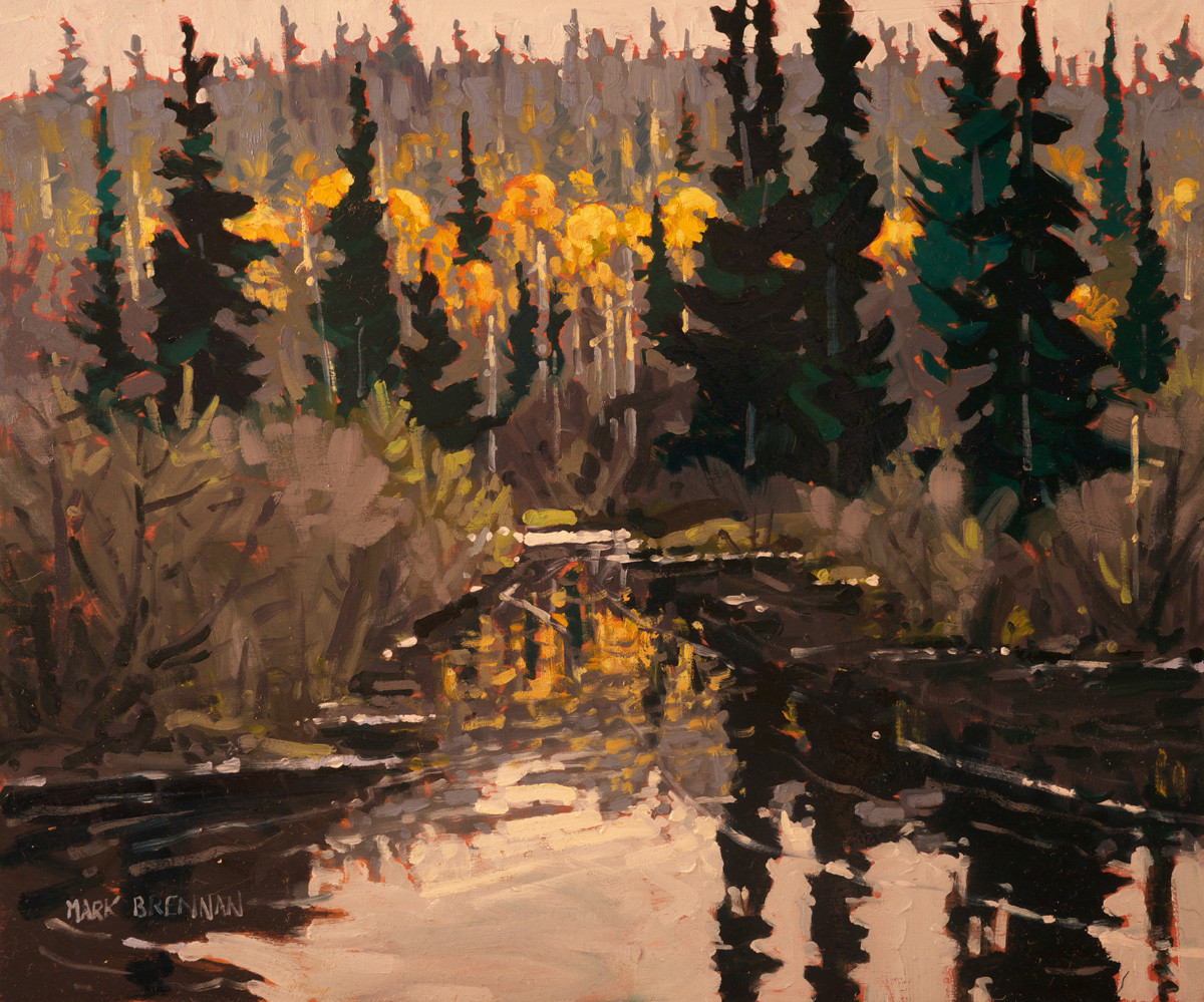 October, The Oxtongue River, Algonquin, Northern Ontario by Mark Brennan
