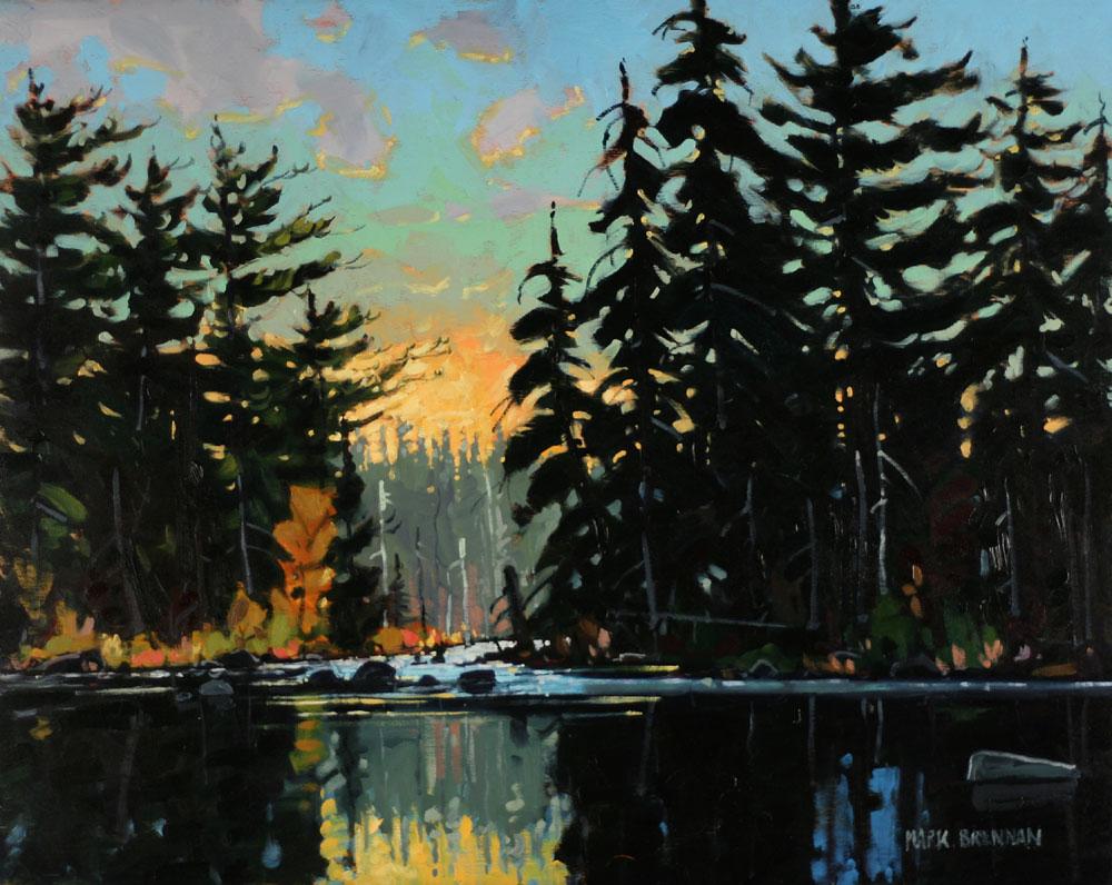 After The Run, Liscomb River, Nova Scotia by Mark Brennan