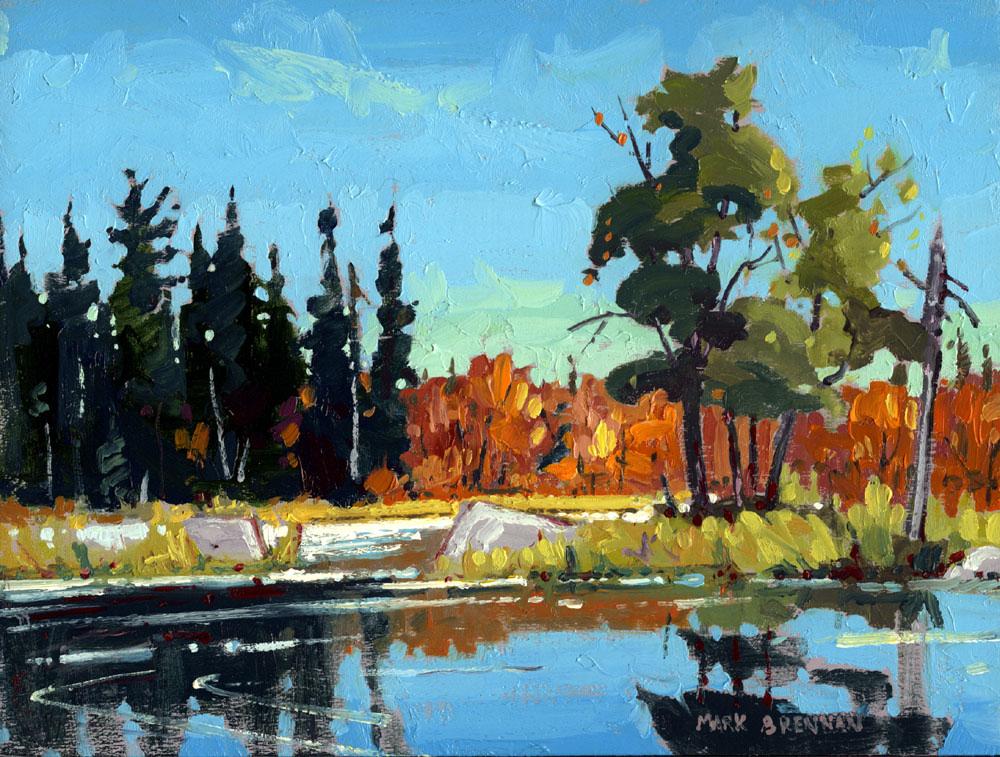 Bright Day, Sporting Lake Stream, Nova Scotia by Mark Brennan