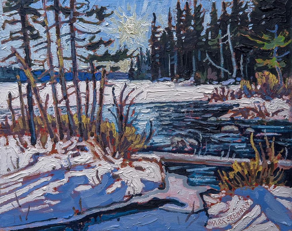 Bright March Day, Dayspring Lake, Nova Scotia by Mark Brennan