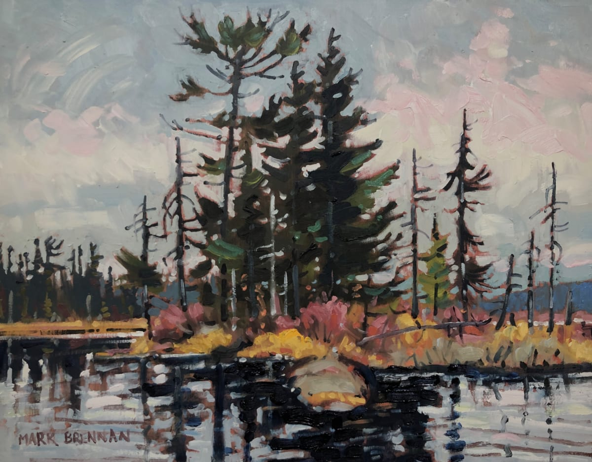 Canoe View, Grassy Lake by Mark Brennan