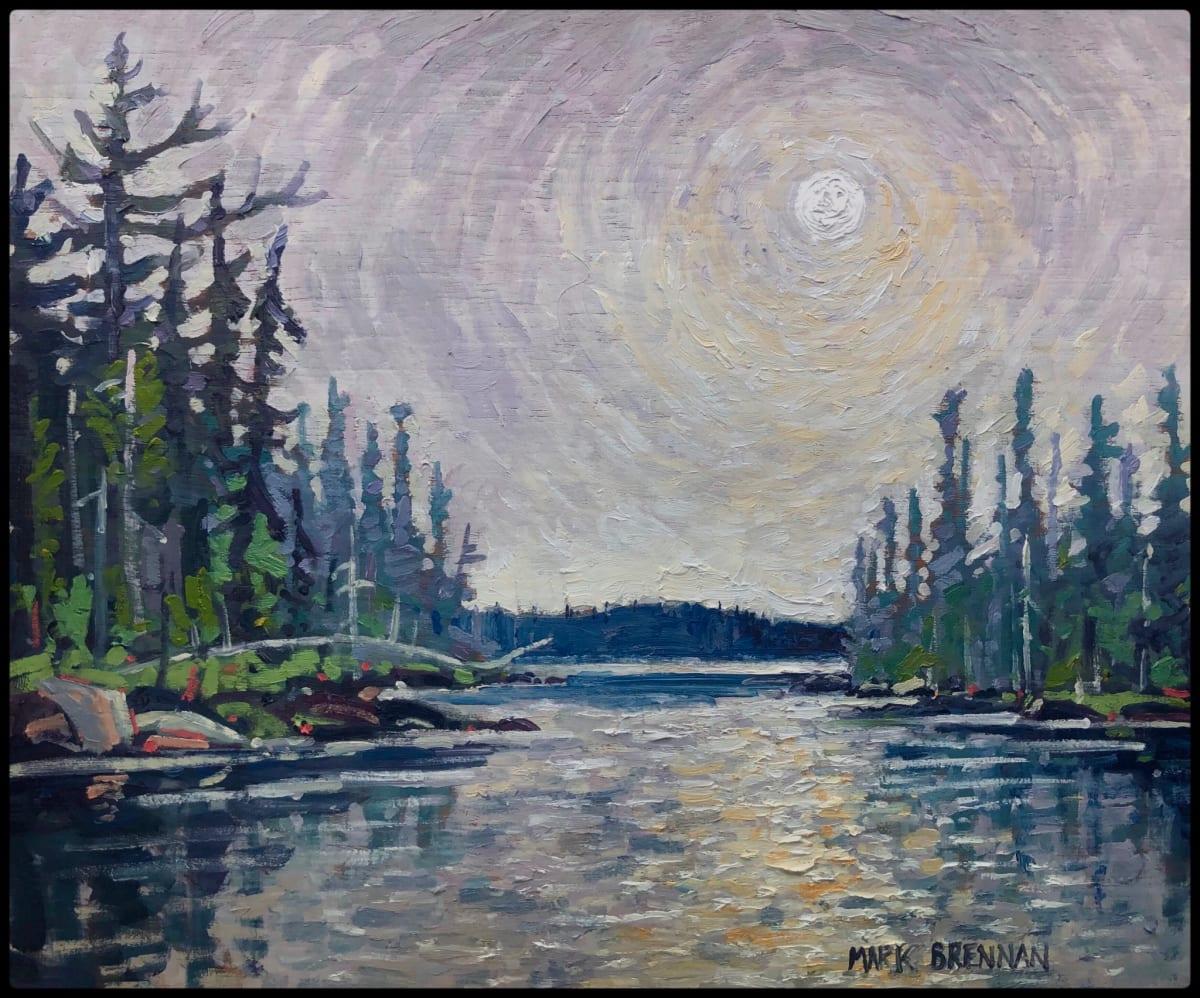 Lake Smoke, West Pogue Lake, Nova Scotia by Mark Brennan